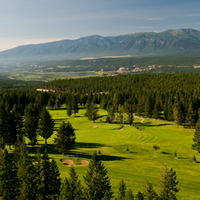 Radium Resort golf course aerial view