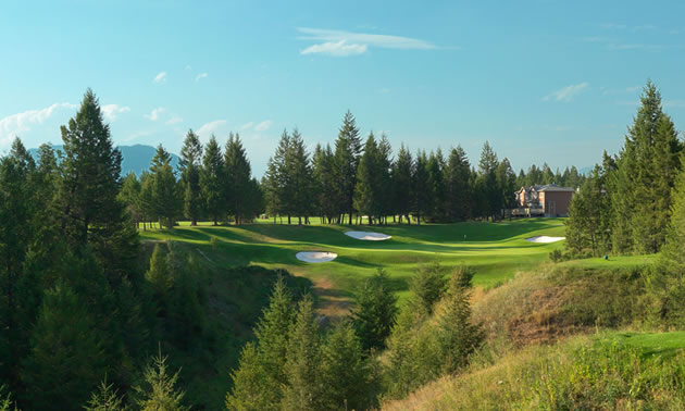 A view of The Springs golf course in Radium Hot Springs, B.C.