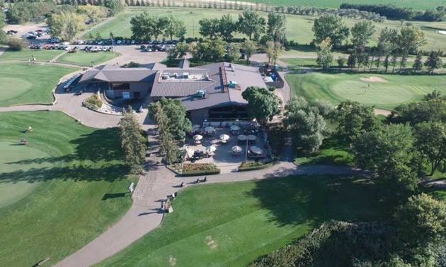 Aerial view of the Wascana Country Club in Regina, Saskatchewan.