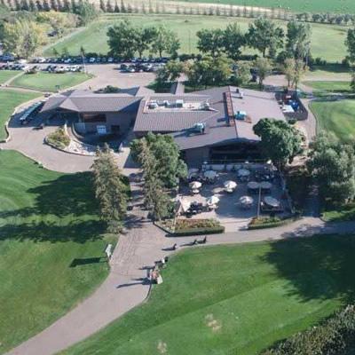 Aerial view of the Wascana Country Club in Regina, Saskatchewan.