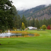 Hole 9 at Christina Lake Golf Club.