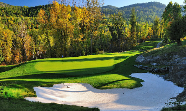 Picture of golf course in the fall.