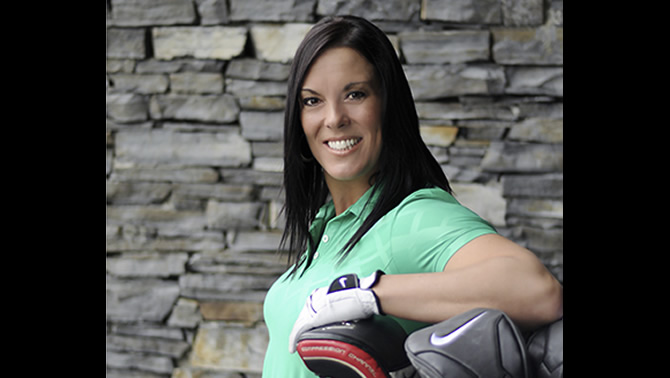 Lisa Longball, 7-time Canadian women's long drive champion.