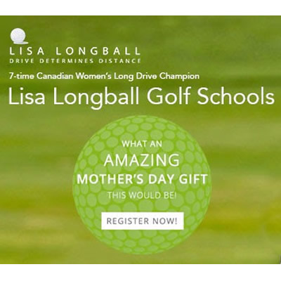 Lisa Longball Golf School advertisement.