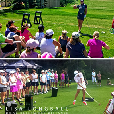 Picture of Lisa Longball golf school.