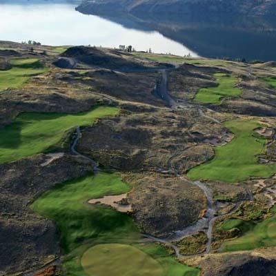 Aerial view of Sagebrush Golf Club.