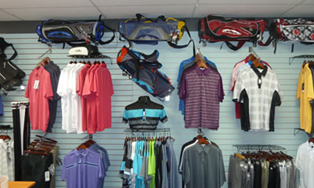 Merchandise at Picture Butte Golf Club Shop.