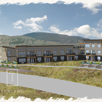An artist's rendition of The Views at Tobiano accommodation project.