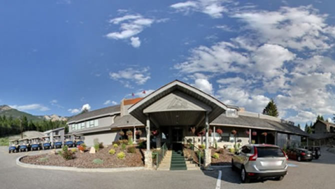 Front entrance of Radium Hot Springs Golf Club.