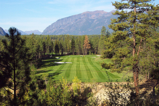 Hole 13 fairway at Bootleg Gap golf course near Kimberley, B.C.