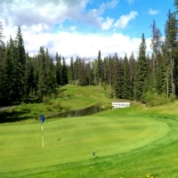 Overlooking the green at Tumbler Ridge Golf Course