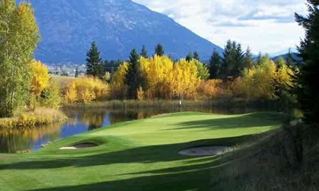 Picture of Creston golf course in the fall.