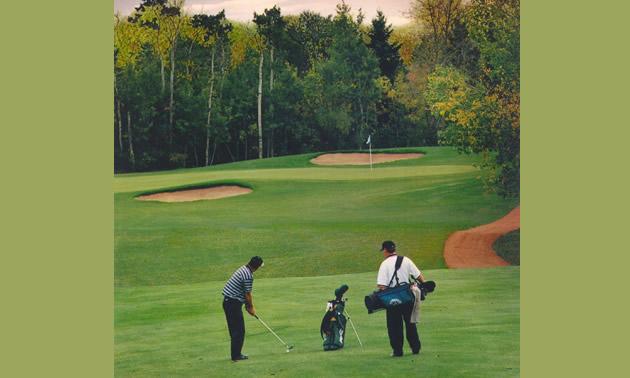 Photo of men playing golf at Camrose
