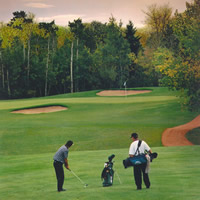 Photo of men playing golf at Camrose