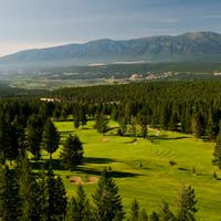 Radium Resort golf course aerial view