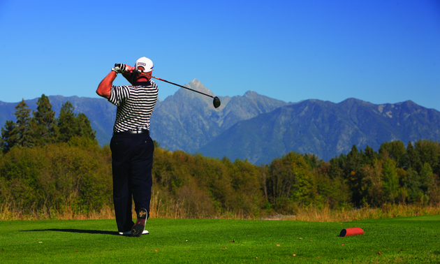Teeing off at St Eugene Golf Resort Casino