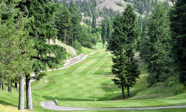 Twin Lakes Golf Course, hole #12.