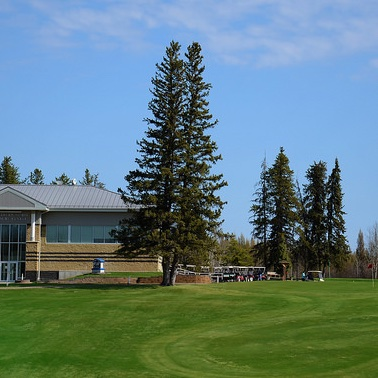18th Green and  Club House at Cold Lake course.