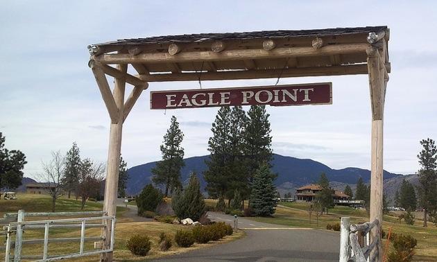 Eagle Point Golf Resort entrance.