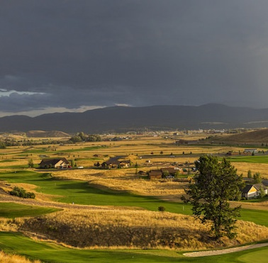 Overlooking the valley where Indian Ranch Golf course is nestled.