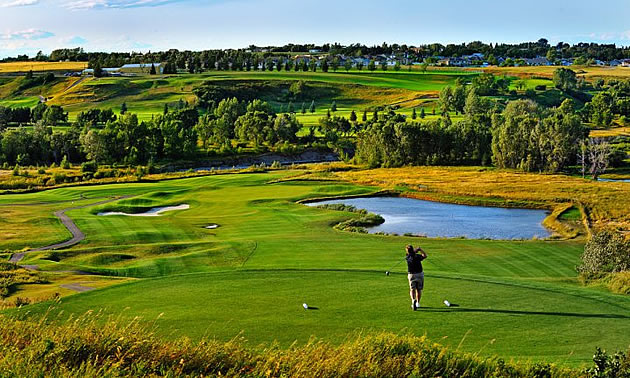 man playing golf at Lee Creek Valley Golf Course