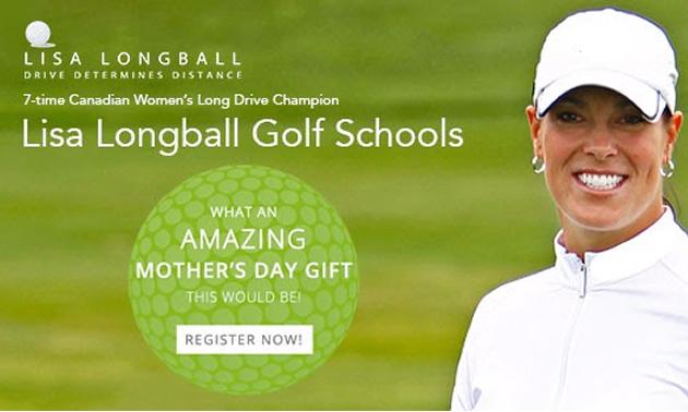 Lisa Longball Golf School advertisement.
