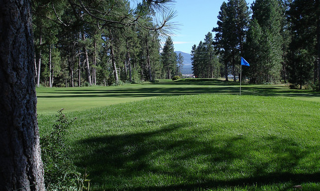 A view of the 5th hole on Mission Hills Golf Course.