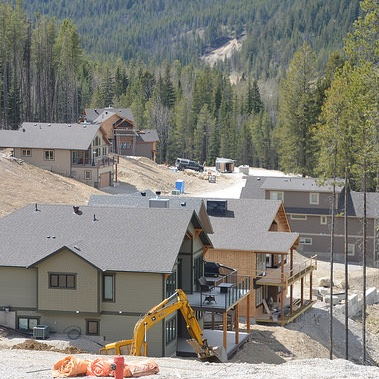 Houses in progress at Trappers Ridge, Panorama's newest development